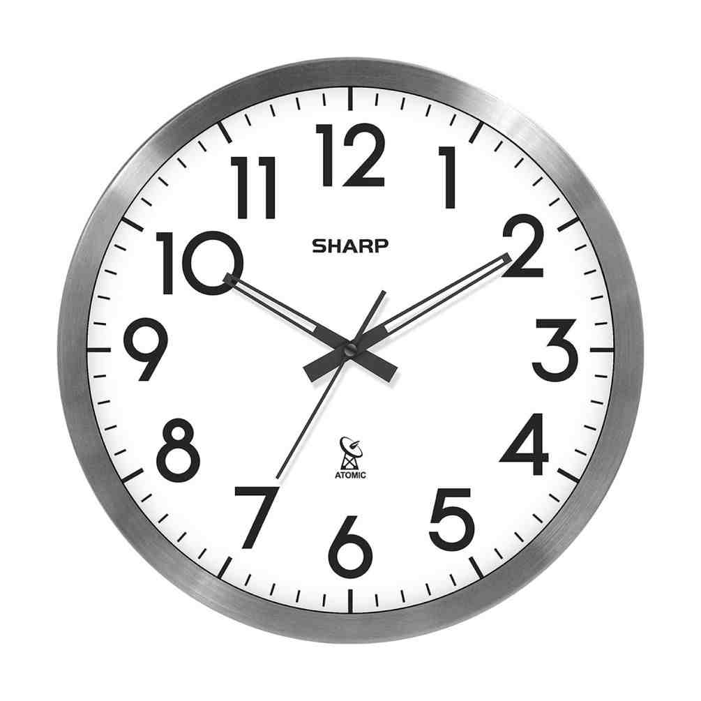 Sharp Digital Atomic Wall Clock - Decor IdeasDecor Ideas