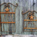 Wrought Iron and Wood Wall Decor