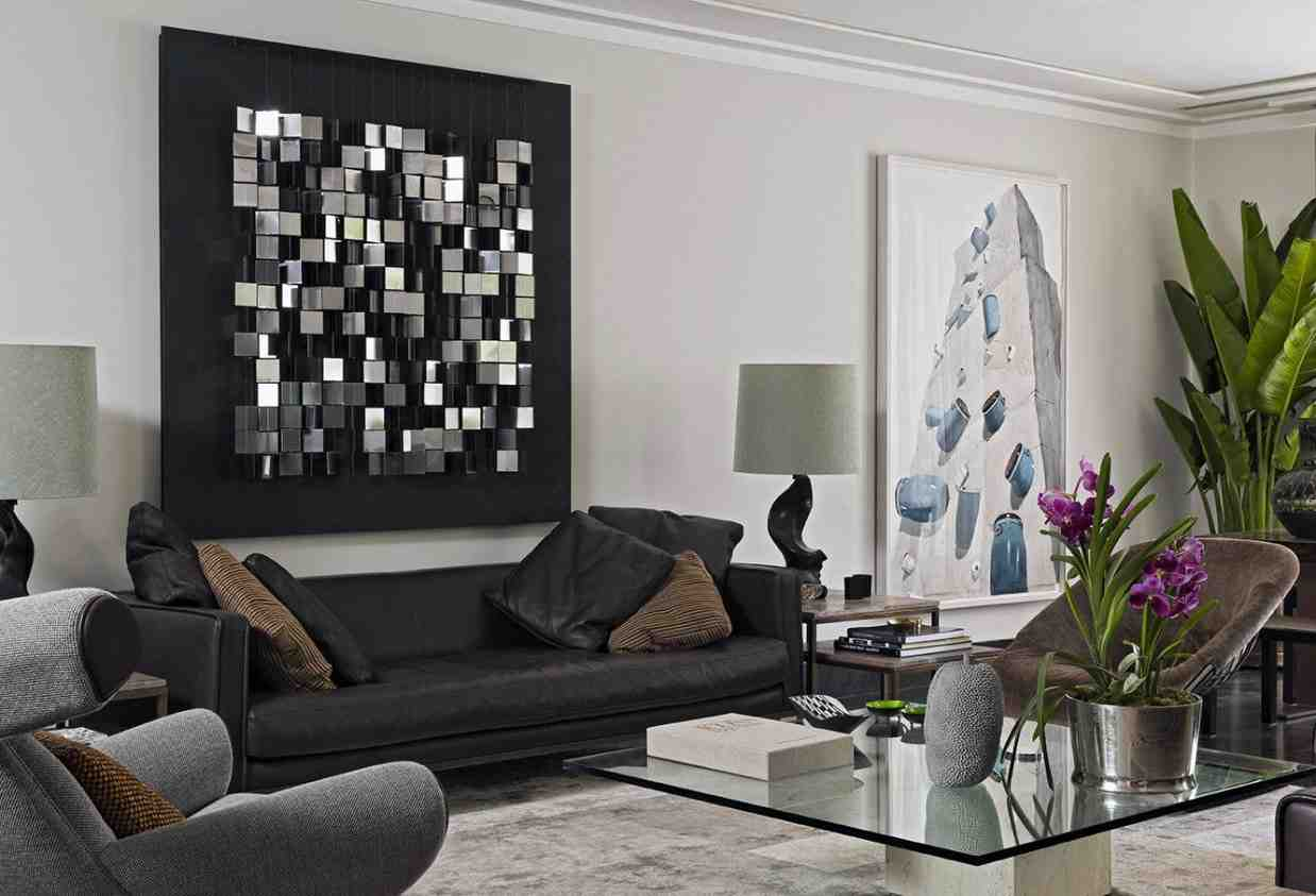big wall decor living room
