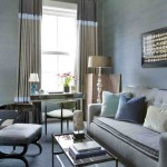 blue and brown living room, living room, colourful design