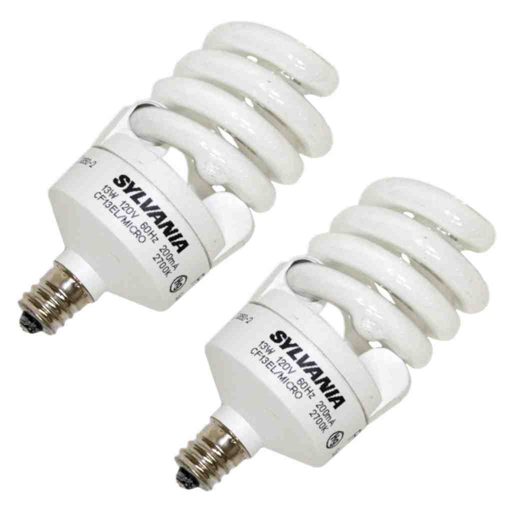 Candelabra Base CFL Bulbs