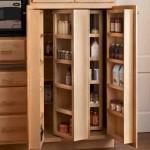 Oak Kitchen Pantry Storage Cabinet