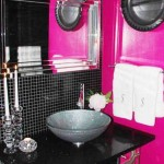 Pink and Black Bathroom Decor