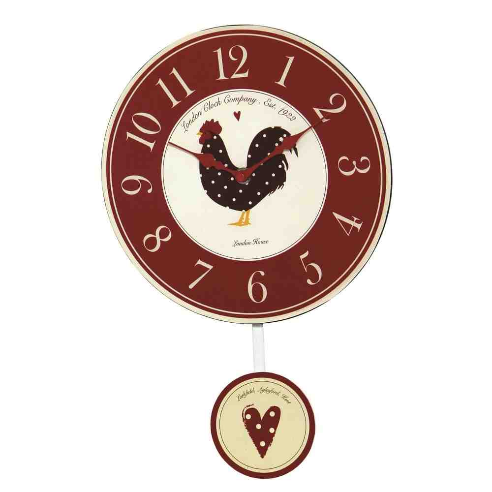 Red Kitchen Wall Clock