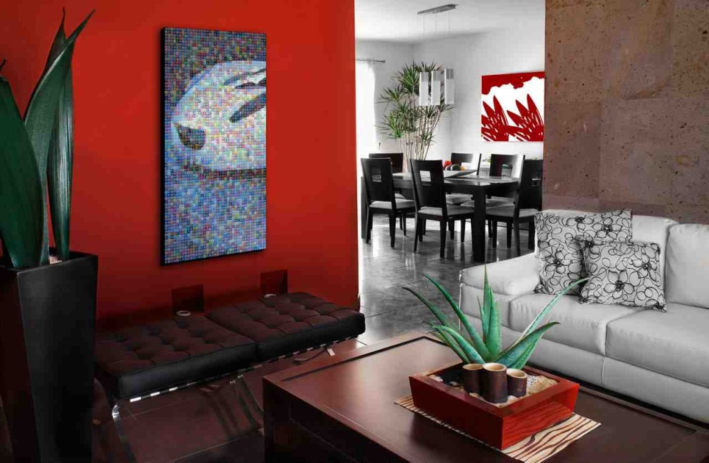 Red Wall Living Room Decorating Ideas