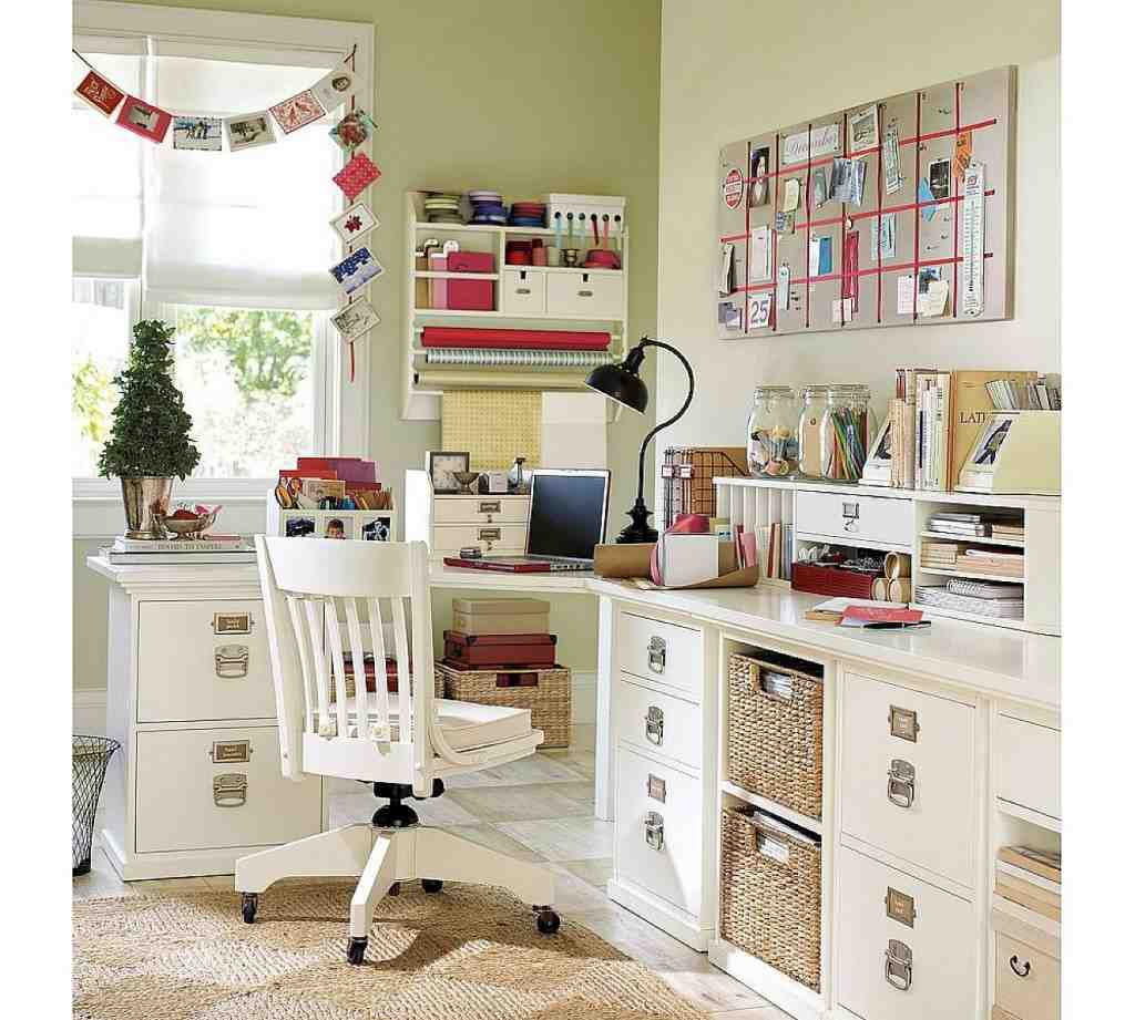 26 Interesting Living Room Décor Ideas Definitive Guide: Shabby Chic Office Decor