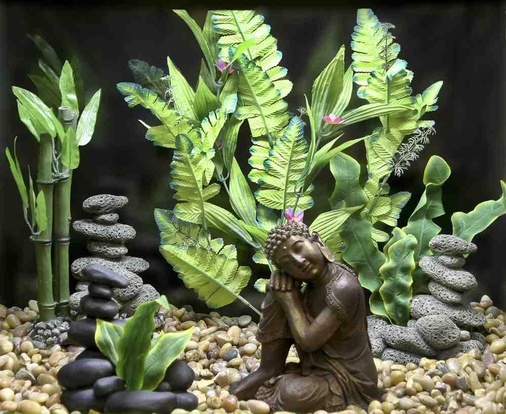 Asian Aquarium Decor