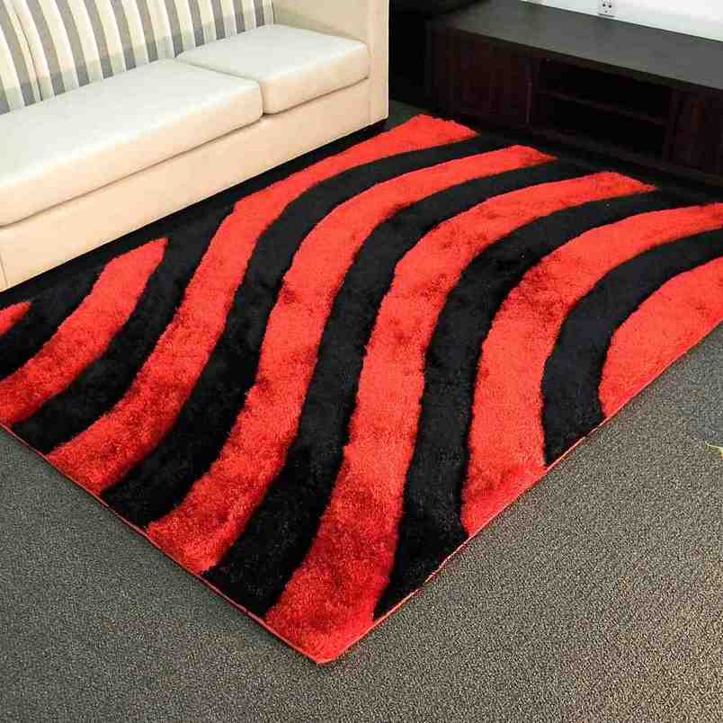 Cheap Red and Black Area Rugs
