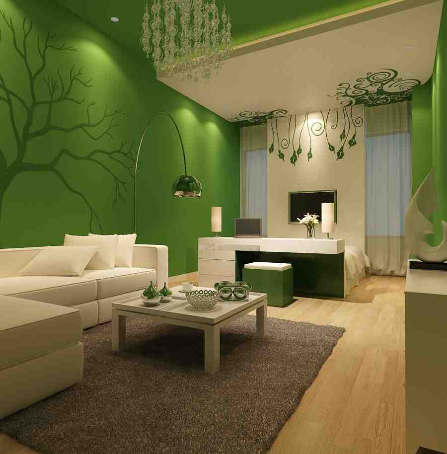 Green Living Room Walls