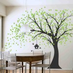 Large Wall Decals For Living Room Large Windy Tree With Birdhouse Wall Decal Tree Decals For Walls
