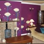Purple Walls in Living Room