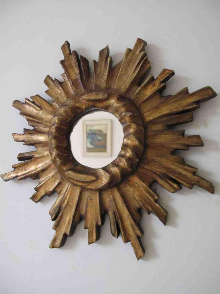 Wooden Starburst Mirror