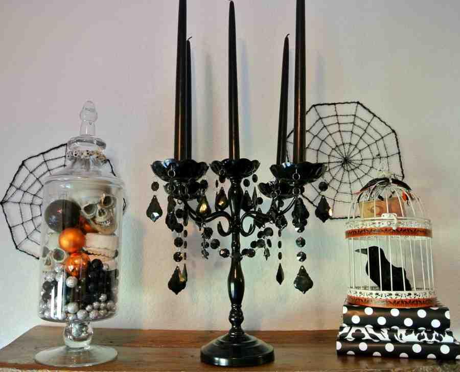 Black Halloween Candelabra
