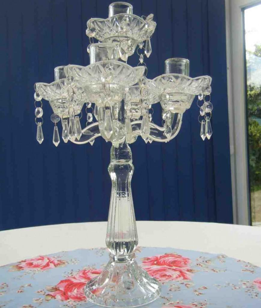 Glass Candelabra