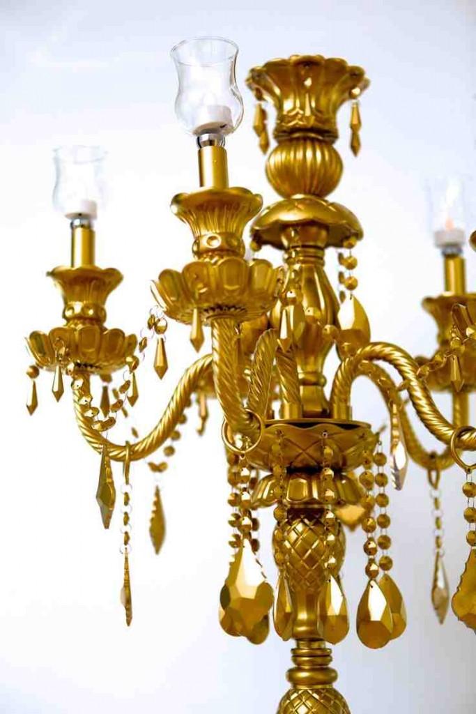Gold Candelabra Rental