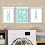 Laundry Room Wall Art Decor