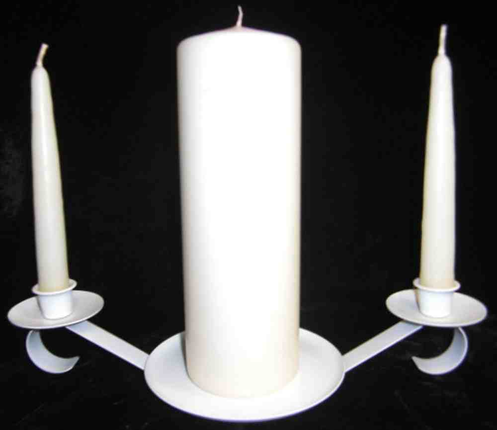 Unity Candle Candelabra