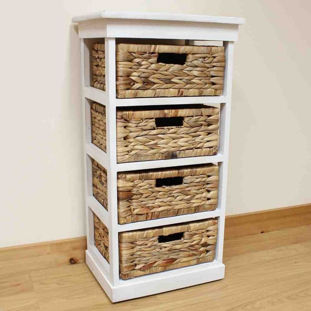 Wicker Storage Shelves