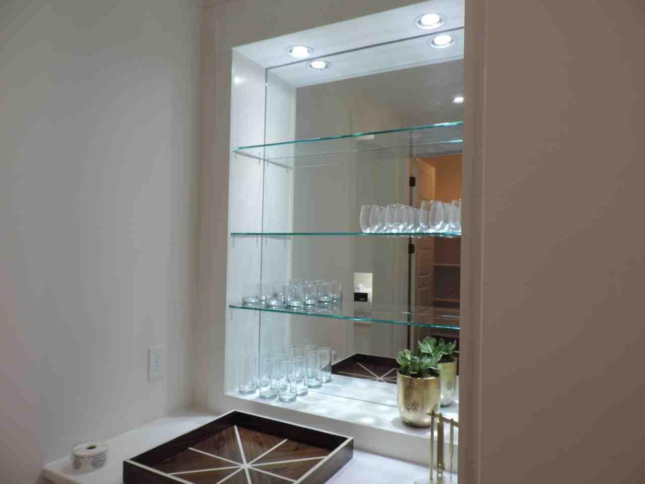 Custom Glass Shelves Decor Ideas