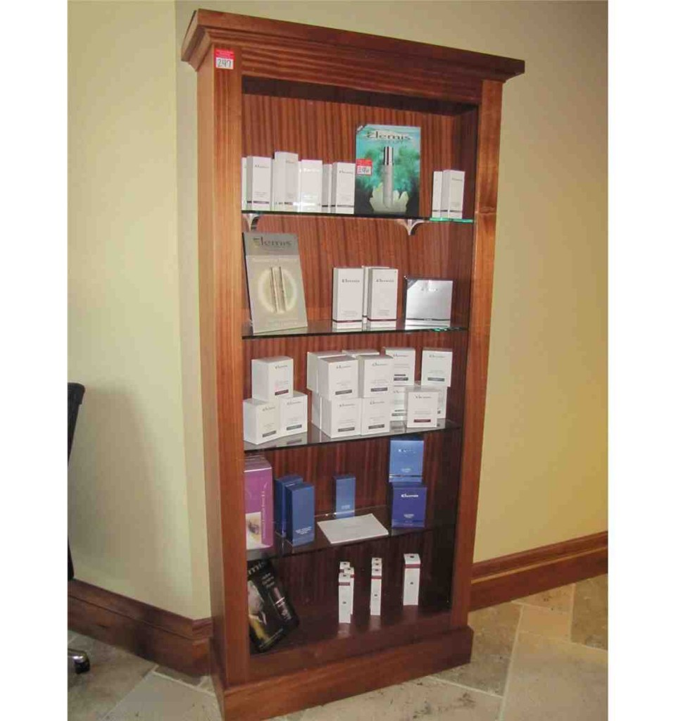 Glass Shelves Bookcase