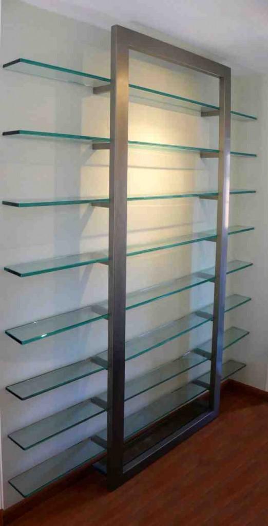 Metal and Glass Shelves