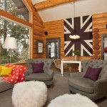 Modern Log Cabin Decor