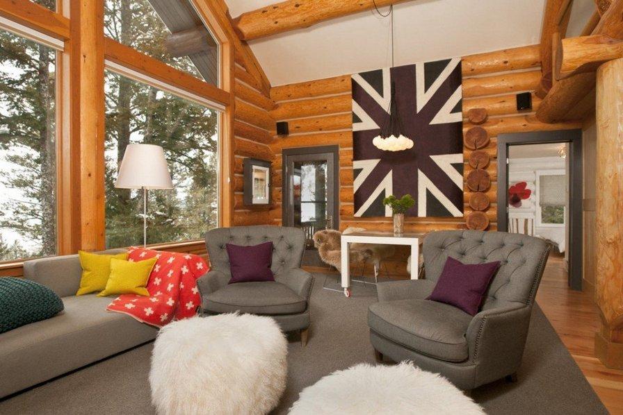 Modern Log Cabin Decor
