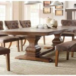 Round Wood Dining Room Table Sets