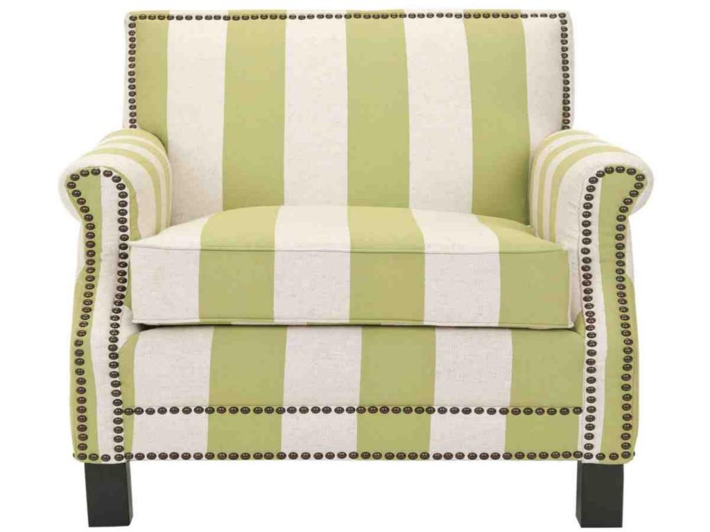 Striped Club Chair