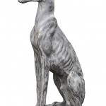Ceramic Dog Statues Outdoor Decor