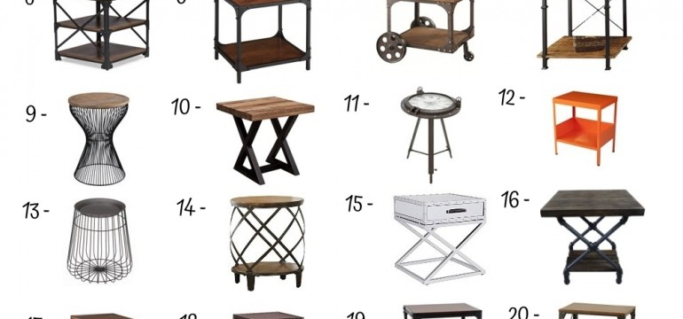 24 Best Industrial End Table
