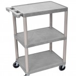 3 Shelf Plastic Utility Cart