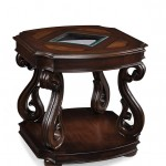 Rectangular End Table Cherry Finish Wood