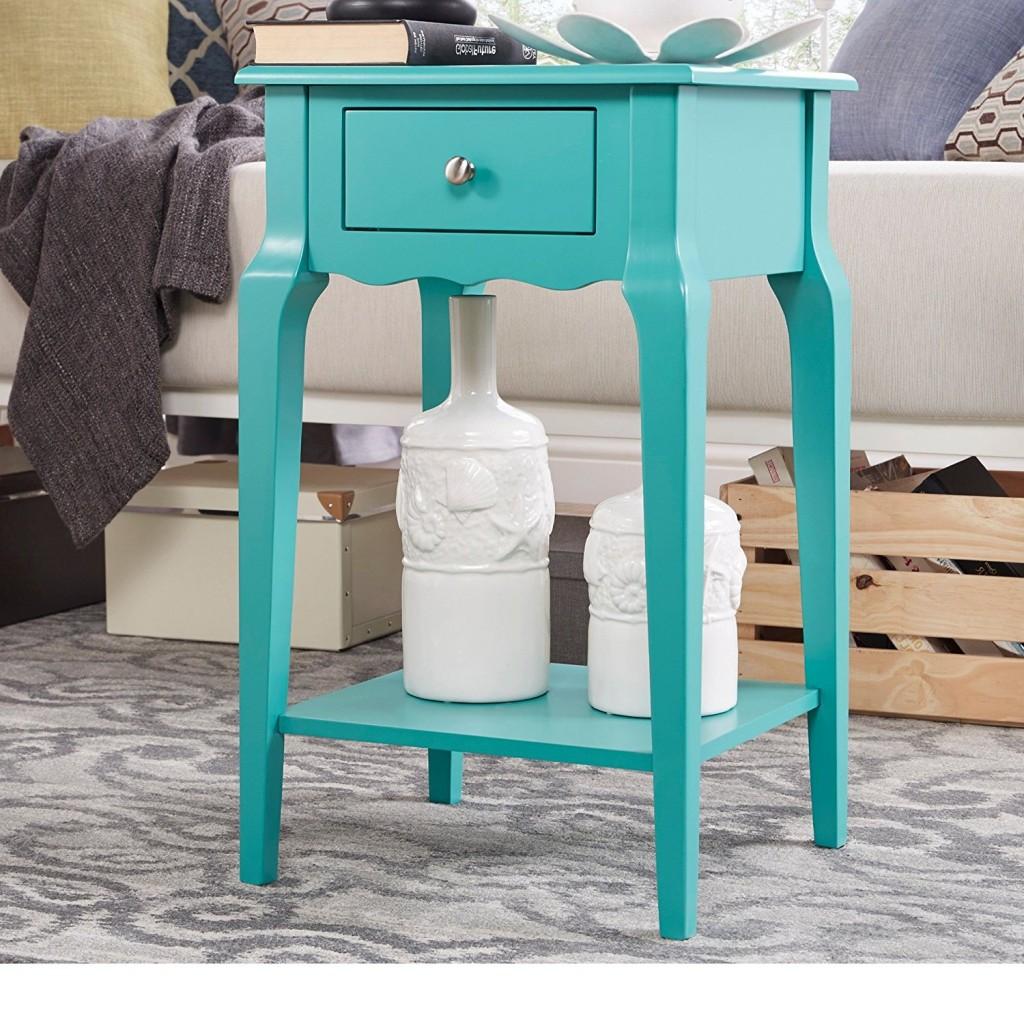 Aqua End Table