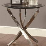 Chrome Glass End Tables