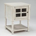 Distressed White End Tables