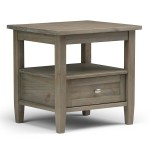 Distressed Wood End Table