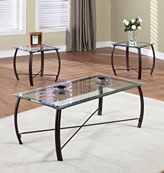 Glass Coffee And End Table Sets
