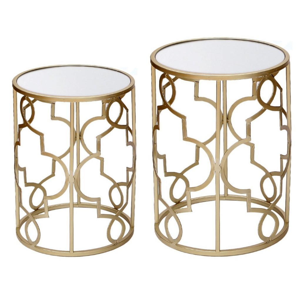 Gold Metal End Table