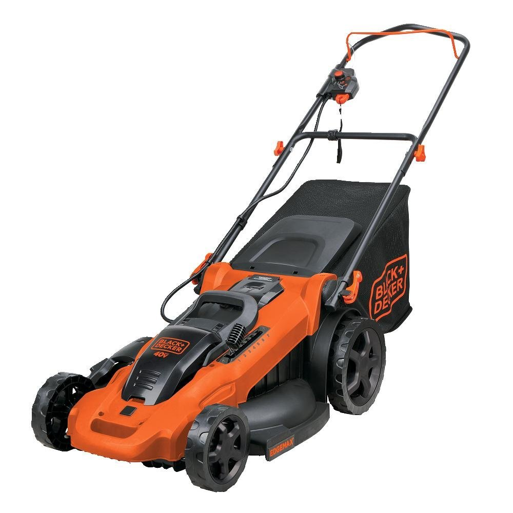 Orange Riding Lawn Mower