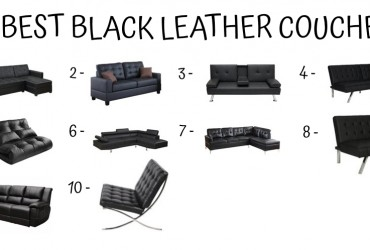 10 Best Black Leather Couches