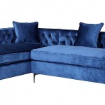 Blue Sectional Sofa With Chaise