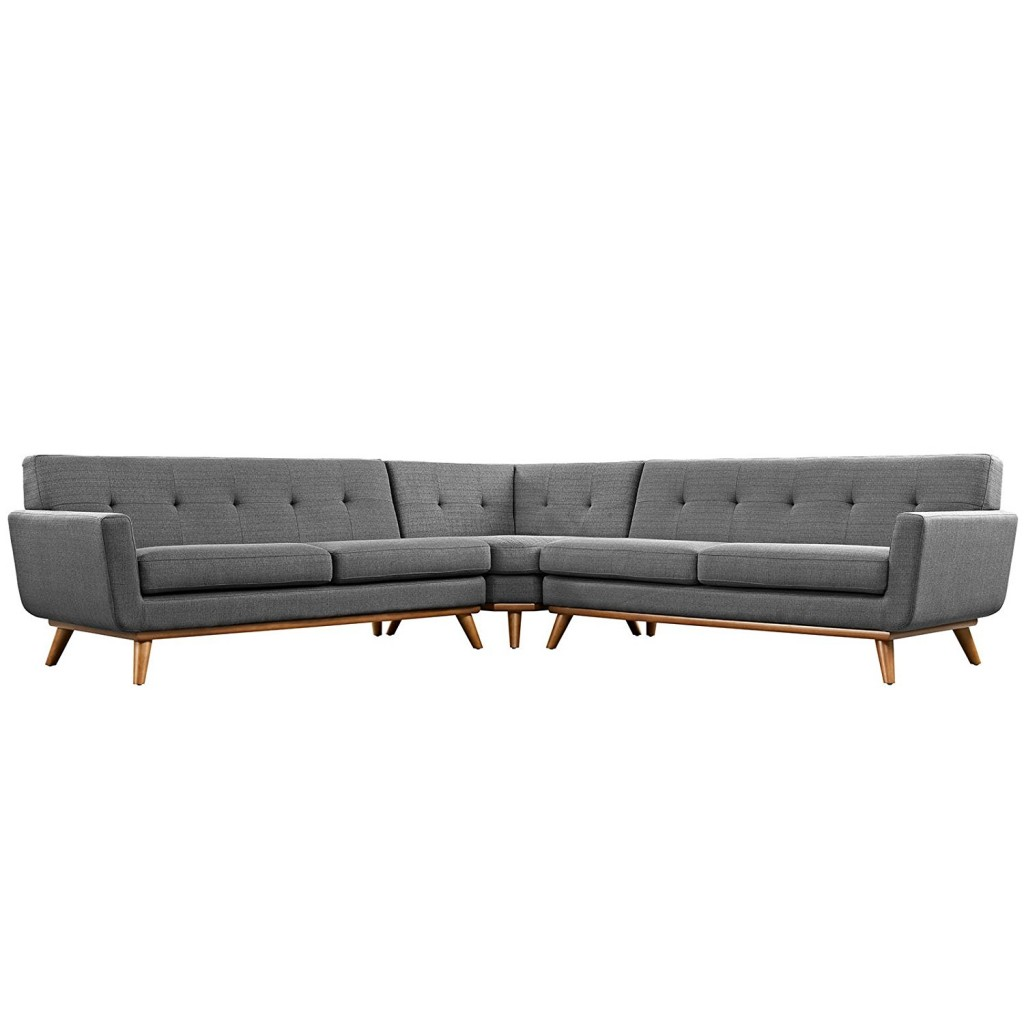 Grey L Shaped Couch