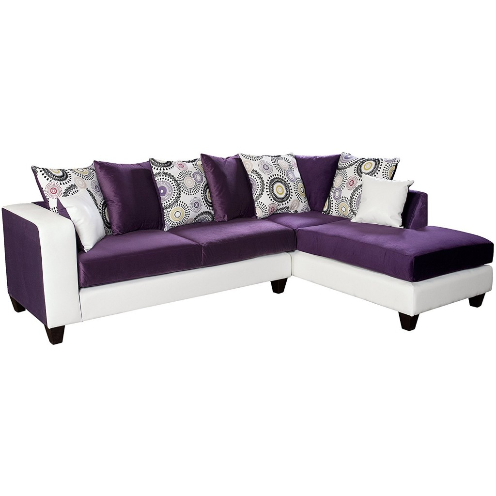 Purple Sectional Couch