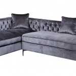 Velvet Sectional Sofa With Chaise