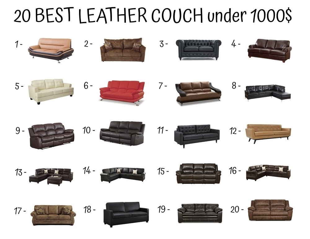 20 Best Leather Couch Under 1000$
