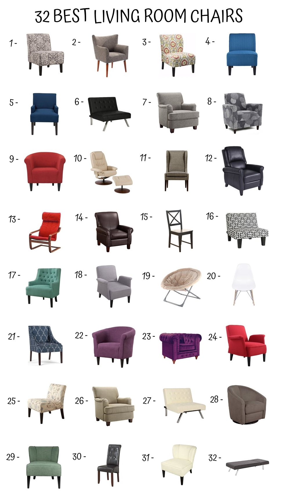 32 Best Living Room Chairs