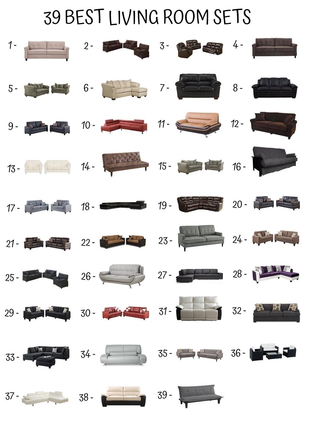 39 Best Living Room Sets