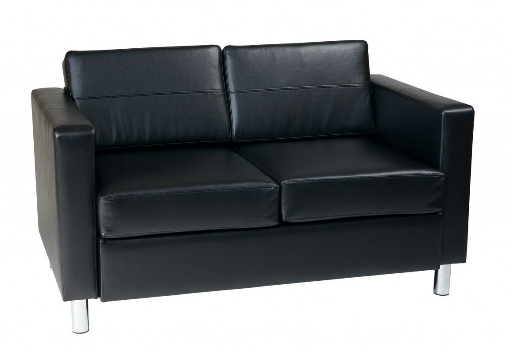 AVE SIX Pacific Vinyl Loveseat