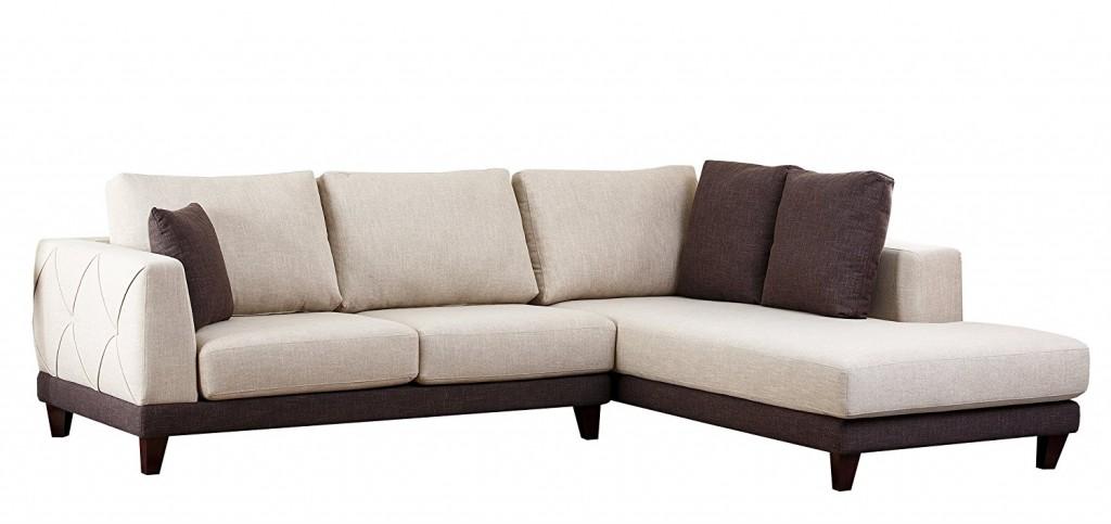 Abbyson Living Juliette Fabric Sectional Sofa